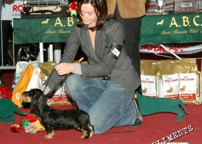 Raduno ABC di Cesena 2009: Negrita di Casa Mainardi 1° BIS Puppy